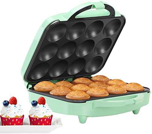 Holstein Housewares HU-09006I Full Size Cupcake Maker, Makes 12, Mint