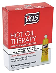 V05 Moisturizing Hot Oil, 2 tubes, 0.5 oz