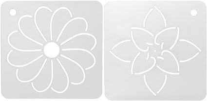 joyMerit 2Pcs Blume DIY Schablone Kunststoff Quilting Schablone Quilt