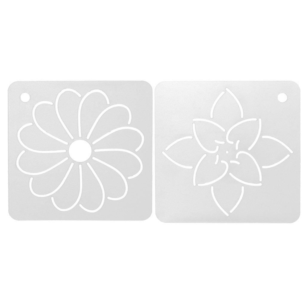 Sharplace 2 Stück Blume DIY Schablone Kunststoff Quilten Vorlage Für ...
