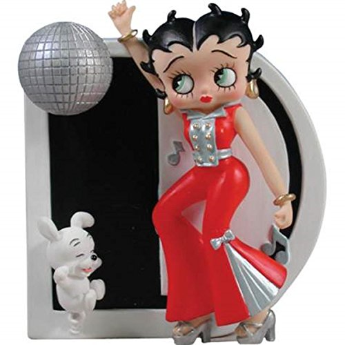 WL SS-WL-6744 Dancing Disco Betty Boop with Ball and Dog Letter D Ornament, 3.25