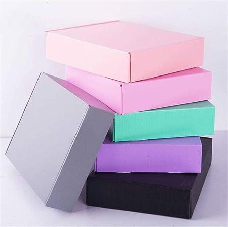CTOBB - 10 Cajas de cartón de 15 x 15 x 5 cm, Color Gris, Negro y Rosa, Rosa, 15x15x5cm: Amazon.es: Hogar