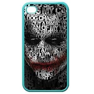 The Joker Quotes Stylish Blue Customized Funny Printed for iPhone 4 4s hard case Best Durable, BlueFlower Kimberly Kurzendoerfer