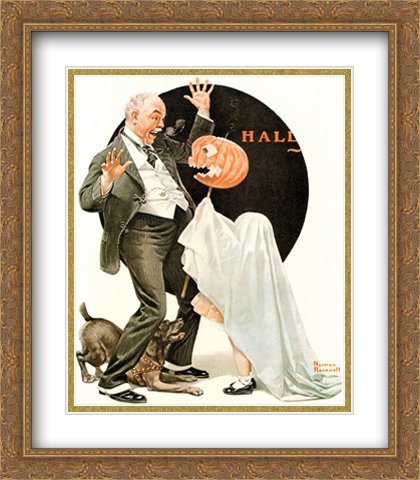 (Norman Rockwell 2x Matted 28x32 Gold Ornate Large Framed Art Print)