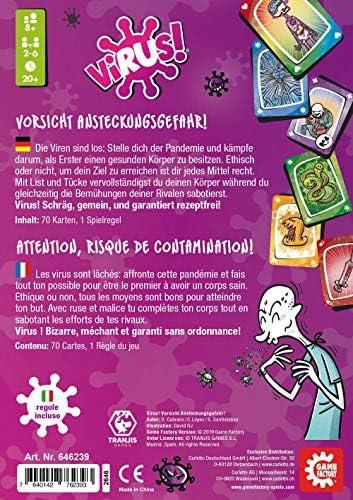GAMEFACTORY-¡Peligro de contagio, multicolor (Game Factory 646239) - Versión Alemana (idiomas: Alemán, Italiano y Francés): Amazon.es: Juguetes y juegos