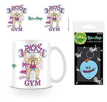 Set: Rick Y Morty, Gimasio De Rick, Gym Taza Foto (9x8 cm) Y ...