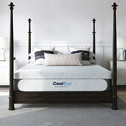 Classic Brands Cool Gel Memory Foam 14-Inch Mattress with Bonus Pillow | CertiPUR-US Certified |