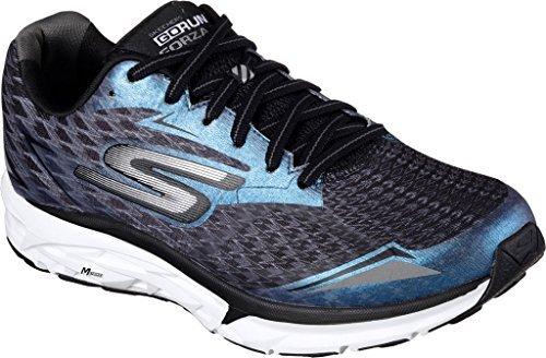 Skechers Women's GOrun Forza 2 Running Shoe,Black/White,US 9 M