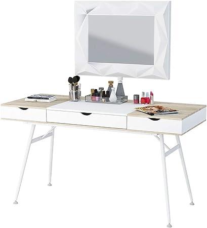 Selsey-Living Escritorio/Mesa, Blanco/Roble Sonoma, 120 x 60 x 77 cm: Amazon.es: Juguetes y juegos