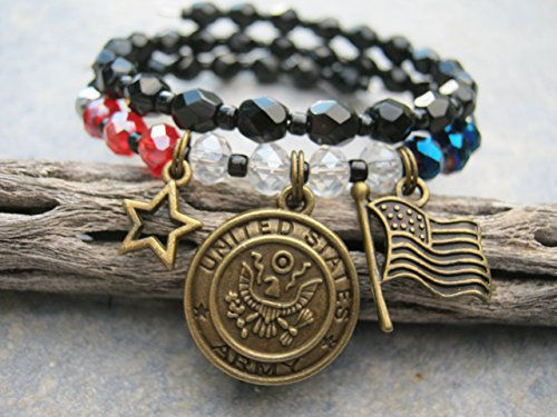 us-army-charm-bracelet-patriotic-united-states-stacking-bracelet-military-jewelry-handmade-in-usa