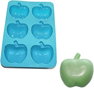 X-Haibei Apple Soap Chocolate Cake Gelatin Silicone Baking Mold Teacher Appreciation Gift