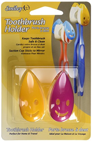 Smiley Set of 2 Toothbrush Holders