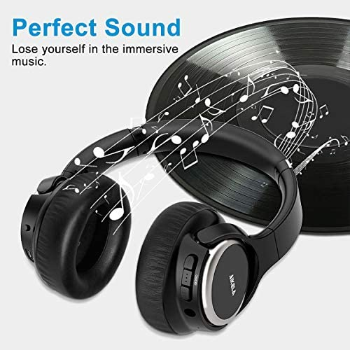 Active Noise Cancelling Headphones, AIKELA Wireless Bluetooth Over Ear Headset with Deep Bass Hi-Fi Sound Soft Earbuds 30H Playtime Fast Charging ANC Headphone for Online Class Travel Home Office 51cb1 2B4rMlL