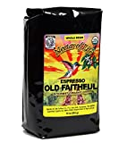 Old Faithful Espresso Medium Dark Full-City Roast, From Nectar of Life. Whole Bean Coffee, Gourmet Coffee. Crème & Smokey. Grade 1 Sumatra, South America & Indonesia. Arabica, Organic Coffee 10oz Bag