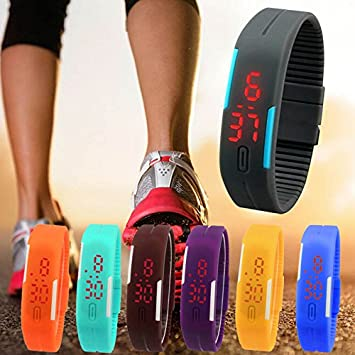 GRACE MARKET, Top Brand Luxury Mens Silicone Wacthes Girl Digital LED Jelly WristWatch relojes mujer