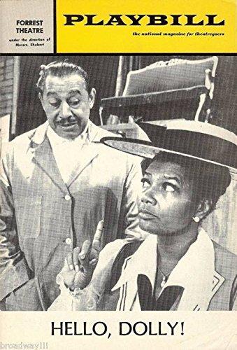 """Pearl Bailey""""HELLO DOLLY"""" Cab Calloway/Jerry Herman 1970 Philadelphia Playbill"""