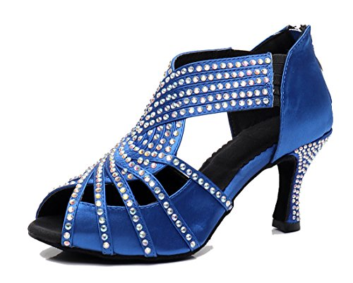 Moderno e 5cm MGM Blue 35 Jazz 7 Zip Heel Blu Joymod Donna wqqtrEAz