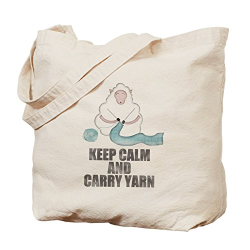 CafePress Keep Calm And Carry Yarn - Natural Canvas Tote ...