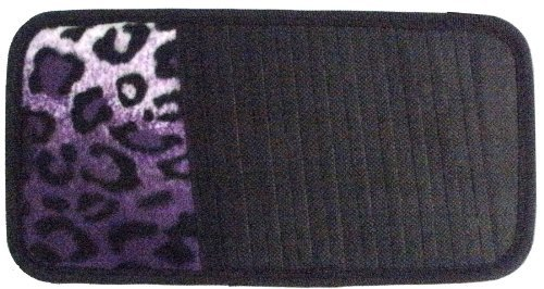 Purple Leopard Animal Print 10 CD/DVD Car Visor Organizer
