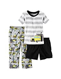 Carter's Boy's Size 7 3-Piece Construction Pajama Top, Pants and Shorts Set