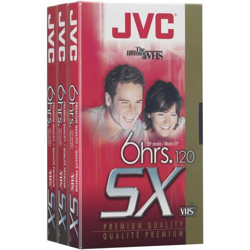 JVC T120Du3 120-Minute Vhs Video Tape (3-Pk) by JVC