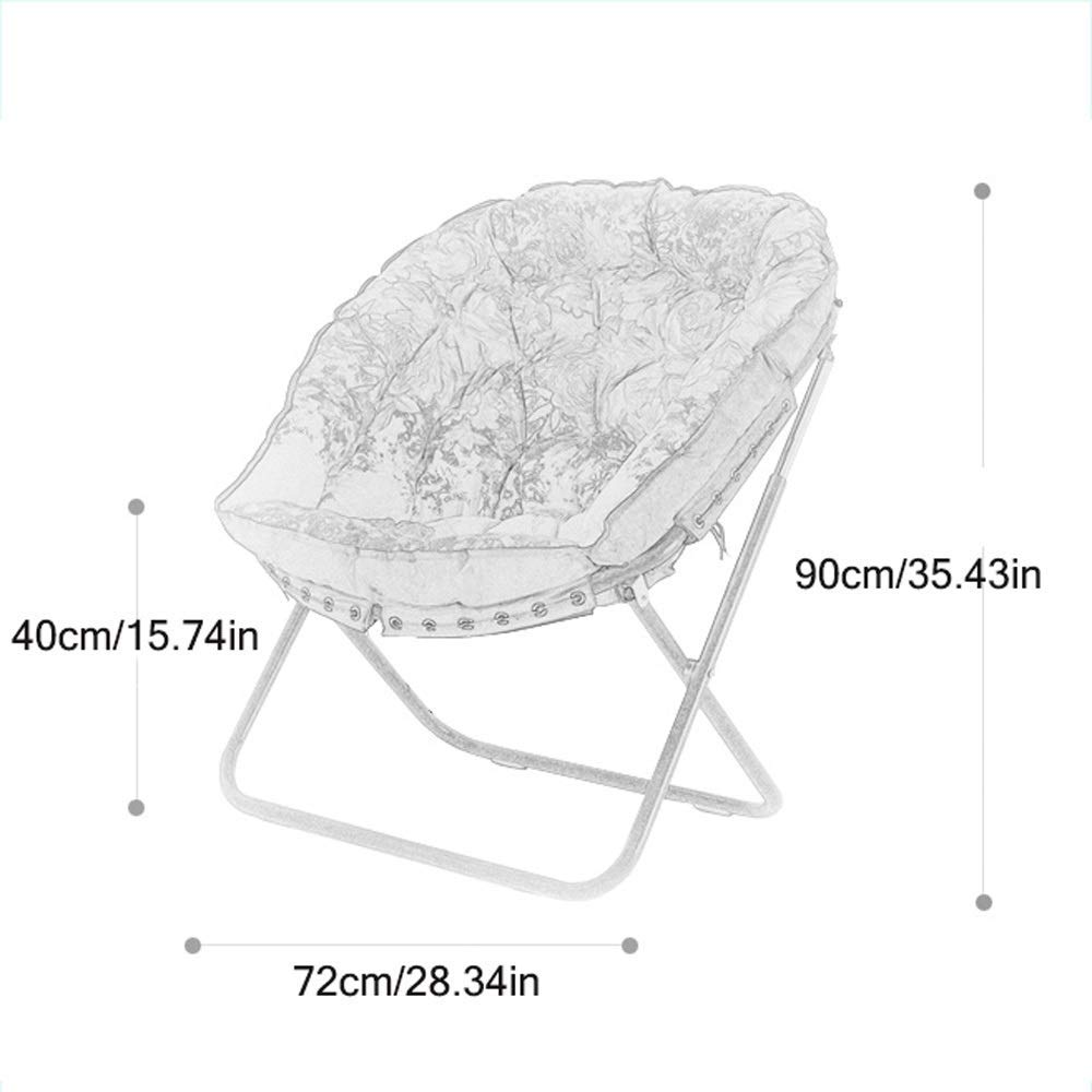 ZXL hopfällbar stol tefat trädgårdsstol hopfällbar stol fåtöljstol lat soffa (färg: Grön) Grått