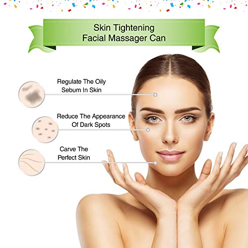 VIJUVE Anti Aging Face Massager for Wrinkles Appearance Removal & Facial Skin Tightening | Boost Effects of Face Cream & Serum | Anti Wrinkle Skin Care & Facial Toning Massage Device