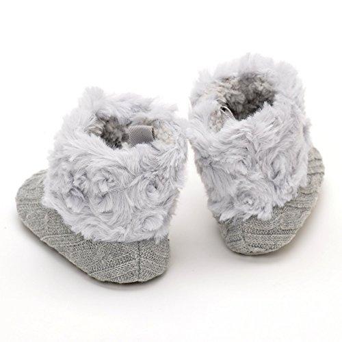 Peluche botas blanco blanco Talla:0-6month gris