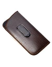Full Clip Soft Eyeglass Case in Brown