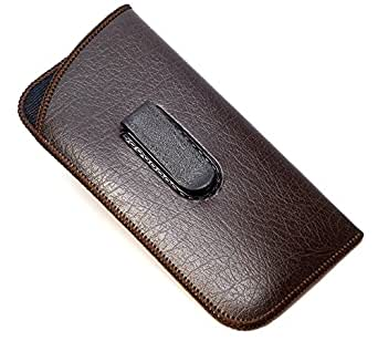 Full Clip Soft Eyeglass Case in Brown at Amazon Men's