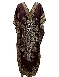 RiSi Women's Kaftan, V-Neck Kimono Long Caftan Dress