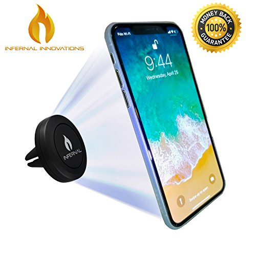 Price comparison product image Infernal Innovations Magnetic Car Air Vent Phone Mount and Smartphone Stand | For iPhone X, 8, 7 and Plus | Google Pixel 2 | Samsung Galaxy Note S8, S7 | OnePlus 5