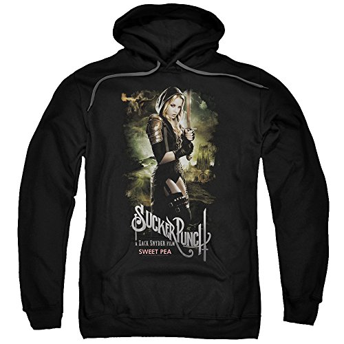 Trevco Sucker Punch Sweet Pea Poster Unisex Adult Pull-Over Hoodie For Men and Women
