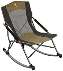The Browning Camping Cabin Chair is a low profile rocking chair that is also compact for easy carry. The foldable design of this rocking chair makes transportation and storage stress-free, and it locks into place when in use to ensure smooth ...