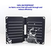 FlexSolar 8.5W Foldable Solar Charger, Waterproof Sunpower Solar Charger Panel for Power Bank, iPhone & All 5V Electronic Devices