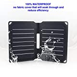 FlexSolar 8.5W Foldable Solar Charger, Waterproof Sunpower...