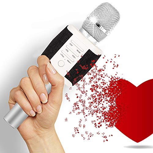 Tosing Wireless Karaoke Microphone for Kids, Louder Stereo Speakers, Bluetooth Handheld Karaoke Singing Mic Machine for iPhone iPad Android, Birthday Gifts for Teens Adults, Presents for Mom