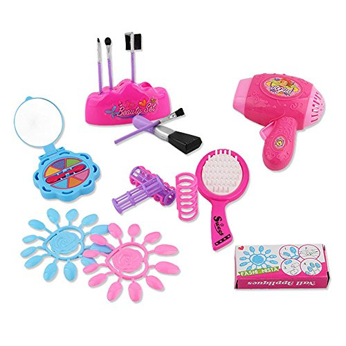 Sinfu 6PC Children Girls Toy accessories Pretend Play Vanity Play Dresser Cosmetic Makeup -