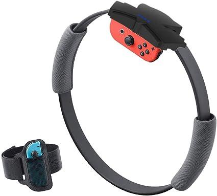 Yete Fitness Ring-con y Kit de Correa de fijación de Pierna para Nintendo Switch Game, Antideslizante y Ajustable, para Switch NS Joy-con Fit Adventure Game: Amazon.es: Deportes y aire libre
