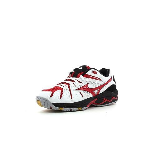 Mizuno Zapatillas de balonmano para hombre - weiß/rot: Amazon.es: Zapatos y complementos