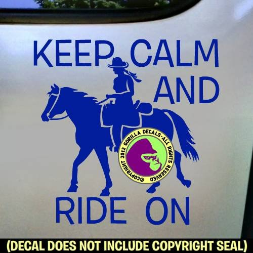 KEEP CALM AND RIDE ON Trail Rider Vinyl Decal Sticker C