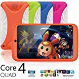 Nacome Tablet For Children, Android 4.4 KitKat Dual Camera WiFi Bluetooth 7 inch Quad Core HD 8G Tablet for Kids Gift