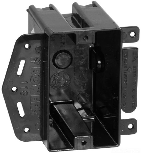 Carlon 118-LB Outlet Box, New Work, 1 Gang, 3-3/4-Inch Length by 2-1/4-Inch Width by 2-7/8-Inch Depth, Black