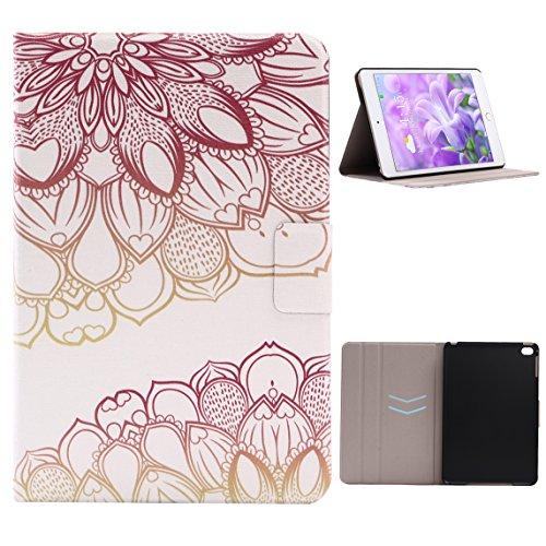 Case iPad Mini 4, iPad Mini 4 Tablet Flip Case Cover con Auto-Sueño / Estela Función, iPad Mini 4 Fundas, iPad Mini 4 Bolsas, Moon mood® Tableta Funda para Apple iPad Mini 4 7.9 pulgadas PU Cuero Duro Auto-Rose