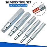Konren Swage Punch Kit, 5pcs CT-193 Copper Pipe