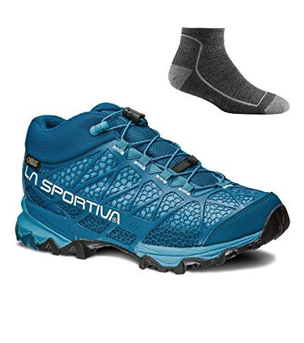 La Sportiva Womens Synthesis Mid Gtx Hikingschoenen W / Sokken Fjord W / Sock