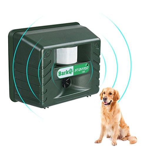 Ultrasonic Dog Barking Controller Bark Deterrent Outdoor Animal Repellent With Motion Sensor Garden Yard Animal Deterrent Against Dog Birds Foxes Skunks by ADDTOP