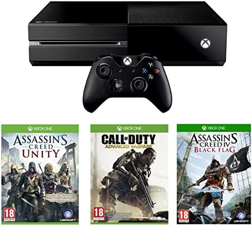 Xbox One Console With Assassins Creed Unity, Black Flag And Call Of Duty: Advanced Warfare [Importación Inglesa]: Amazon.es: Videojuegos