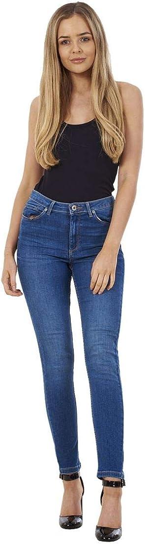 exfaMouSstore da Donna Vita Media Tasche Denim da Donna Super Skinny Elasticizzato Jeans