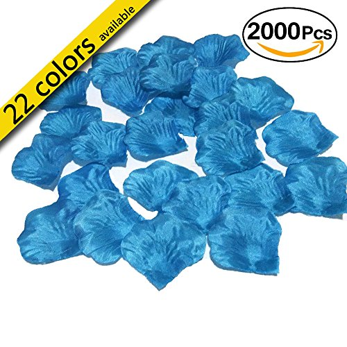 MayaRed 2000 PCS 22 Colors Silk Rose Petals Wedding Flower Decoration